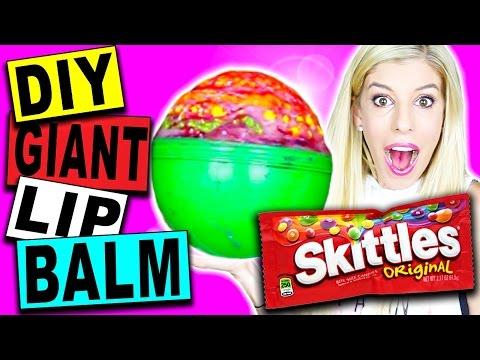 diy giant skittles eos lip balm
