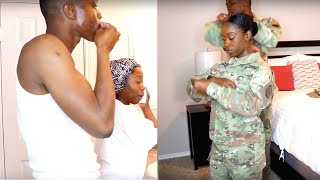 GET READY WITH US MILITARY COUPLE EDITION | MEECH AND ROCKY
