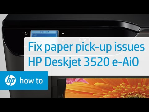 Fixing Paper Pick Up Issues   HP Deskjet 3520 e-All-in-One Printer   HP