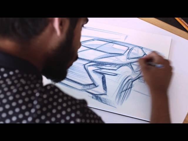 How to draw a car - designing the Lexus LF-SA