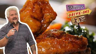 Guy Fieri Tries FRIED Spare Ribs And YAM-Fried Chicken   Diners, Drive-ins And Dives