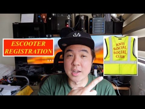 Upcoming Escooter Registration - My thoughts...