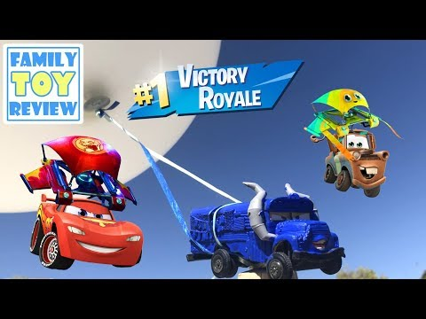 Disney Cars Miss Fritter FORTNITE BUS Mashup Race - Driven 2 Win Gameplay - Disney Cars Diecast Club