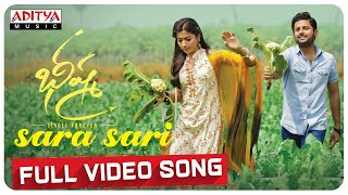 Sara Sari Full Video Song | Bheeshma Video Songs | Nithiin, Rashmika | Mahati Swara Sagar
