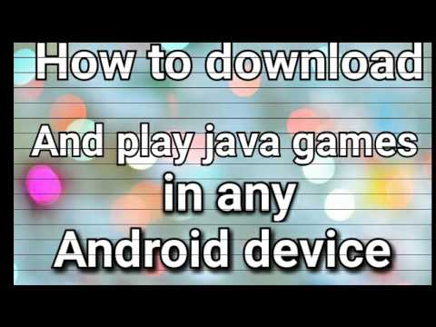 How to download and play java games in any android device