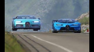 Bugatti Vision GT vs Bugatti Chiron at Highlands