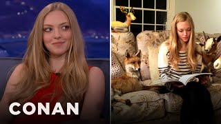 Amanda Seyfried Is Obsessed With Taxidermied Animals  CONAN On TBS