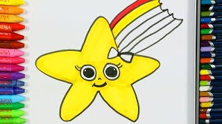 Yıldız Boyama Sayfaları ⭐ | Yıldız Nasıl Çizilir? | Boyama | Çocuklar için Renkleri Öğreniyorum