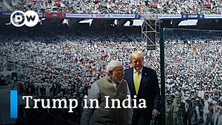 Trump starts India trip with huge stadium rally | DW News