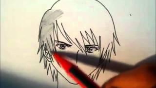 Смотреть онлайн Рисуем лицо аниме-героя