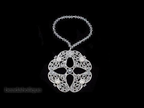 How to Make a Filigree and Swarovski Crystal Ornament