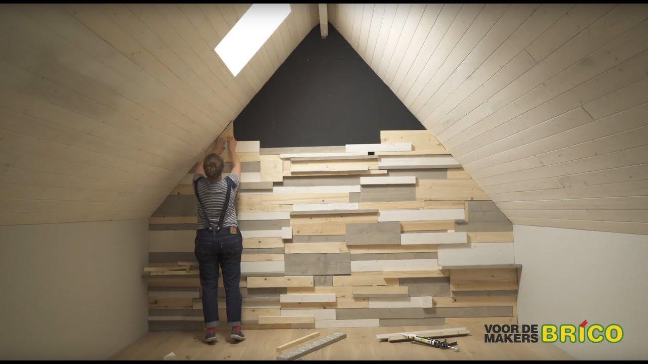 Steigerhout Muur Slaapkamer : Wandbekleding van steigerhout plaatsen voor de makers