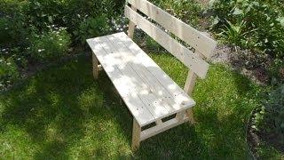 Смотреть онлайн Как сделать садовую скамейку для дачи своими руками