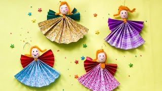 DIY Paper Angel Christmas Craft | Christmas Ornaments For Home, Tree Decorations | ArtsyCraftsyMom