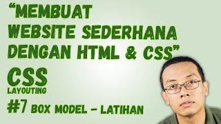 Gambar cover CSS Layouting - #7 Box Model : Membuat Website Sederhana