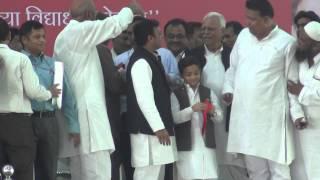 Nauman murtaza with Akhilesh yadav at Merrut agman