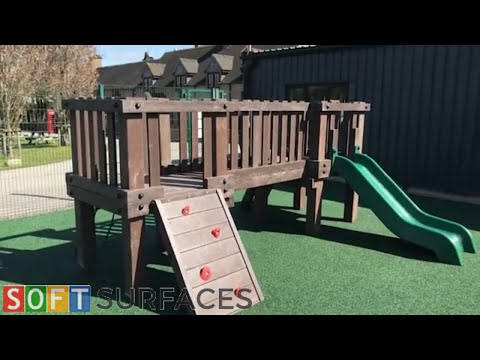 Wetpour Surfacing Installation in Falmouth, Cornwall   Wet Pour Play Area