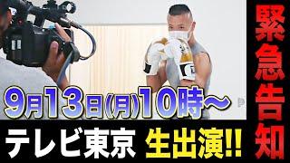 【緊急告知】9月13日(月)10時〜テレビ東京なないろ日和!生出演します