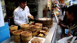 preview picture of video 'Hong Kong Street Food. Dim Sum Served in the Streets of Wan Chai'