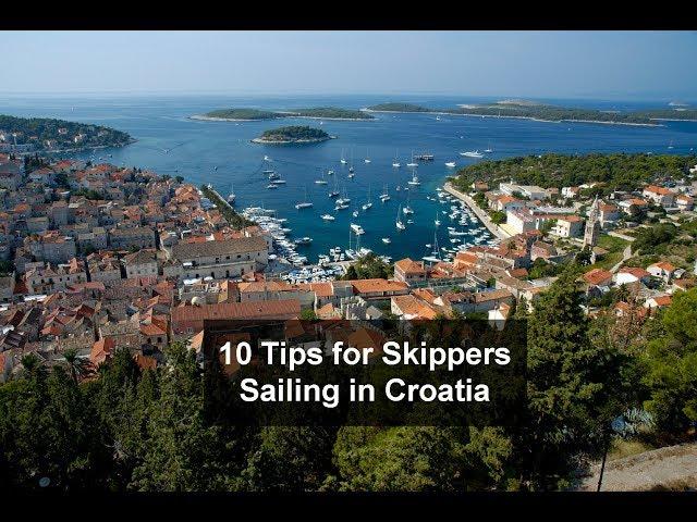 10 tips for skippers sailing in Croatia