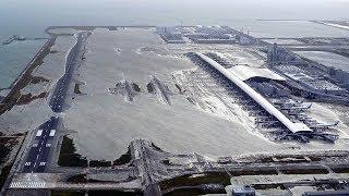 At least six killed by Typhoon Jebi, Kansai International Airport flooded