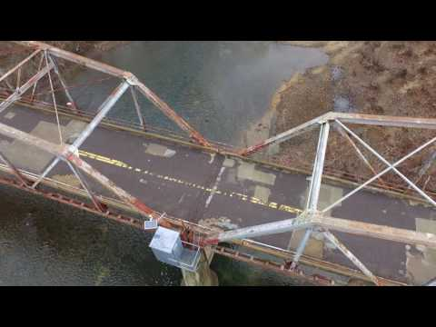 Flight over Gasconade River Bridge, Route 66, Jerome, Missouri December 2016