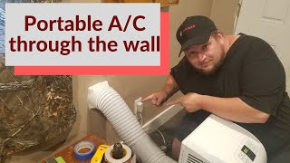 Vent your Floor/Portable ac through the Wall.