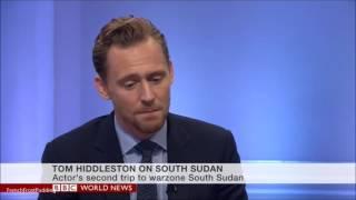 Tom Hiddleston on BBC world news UNICEF 29/11/2016