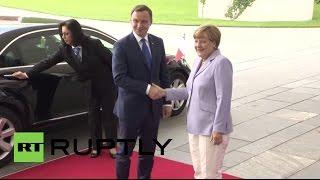 Germany: Polish President Duda meets Merkel in Berlin