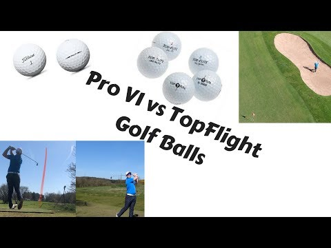 Premium Golf Ball vs Budget Golf Ball (Titleist Pro V1 vs TopFlight)