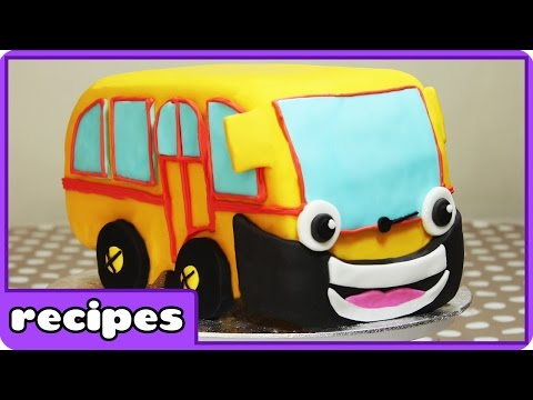 The Wheels On The Bus Birthday Cake Ideas for Children By HooplaKidz Recipes