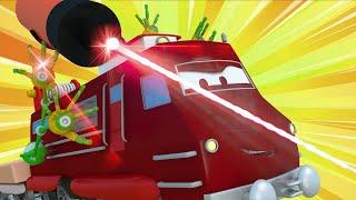 Трой Супер Поезд спасает Железнодорожный город - Автомобильный Город 🚄 детский мультфильм