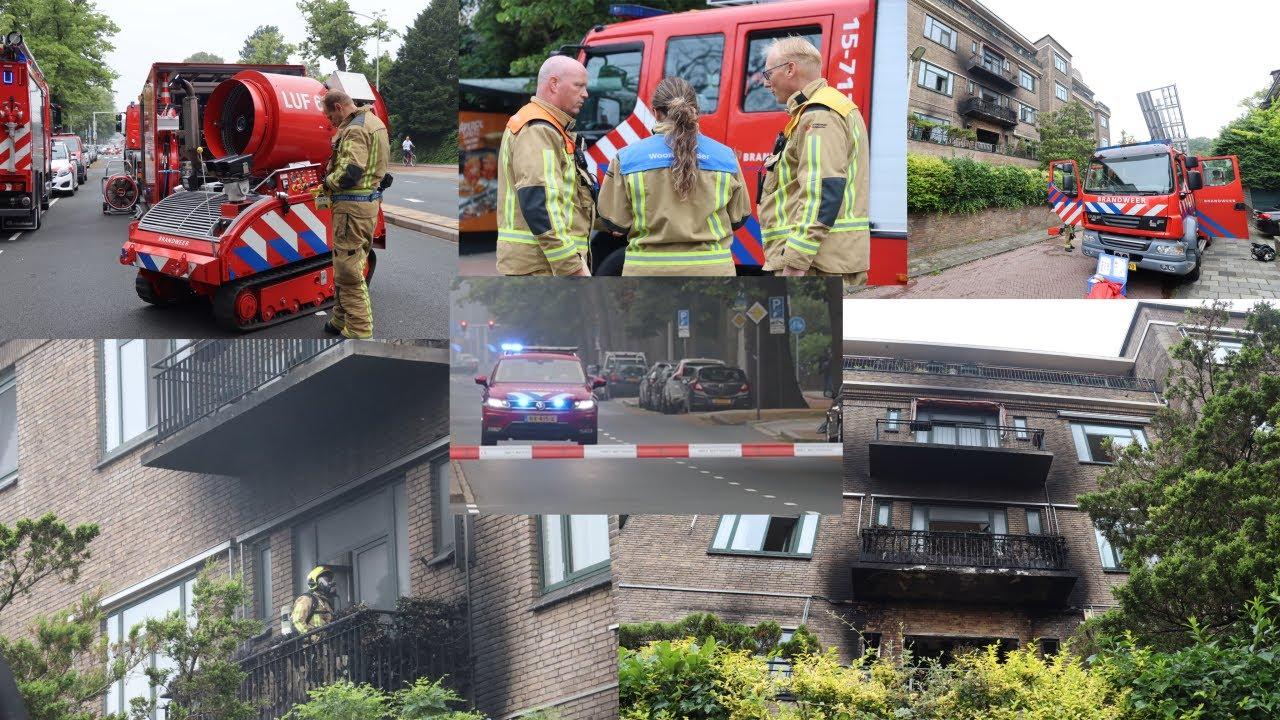 [#52][Inzet Blusrobot!!] Grote inzet hulpdiensten na felle en uitslaande brand in pand Den Haag!