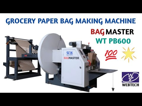 Grocery V Bottom Paper Bag Making Machine