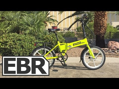 Enzo Ebikes Folding Electric Bike Video Review – $1.7k Water Resistant Hardware, Belt Drive Option