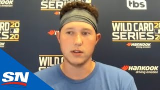 Nate Pearson talks about getting his first taste of the postseason