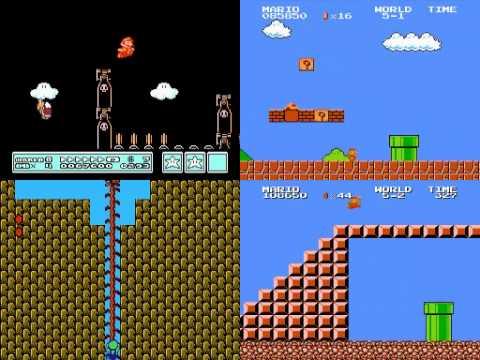 TAS Super Mario Bros. 1 2 2J 3 Quad run in 10:39.75 (видео)