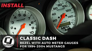 1994-2004 Mustang Install | Classic Dash 6-Gauge Kit with AutoMeter Gauges