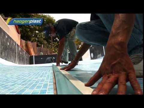 Instalación de revestimiento para piscinas Aquaplan