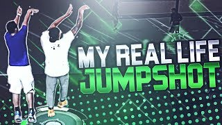 SHOOTING WITH MY OWN REAL LIFE JUMPSHOT IN NBA 2K17!! HILARIOUS FULL COURT SHOTS!!