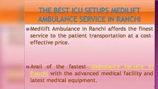 Risk-Free Patient Transfer Ambulance Service in Bokaro