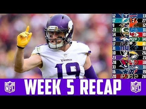 NFL WEEK 5 RECAP 2018 (NFL Week 5 Breakdown 2018) Giants vs Panthers Vikings vs Eagles