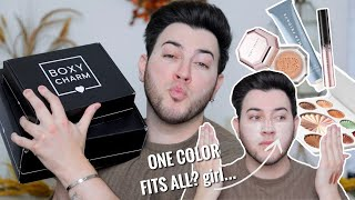 Boxycharm Base Box vs Premium Box | FIRST BOX OF 2021! January try on haul by Manny Mua