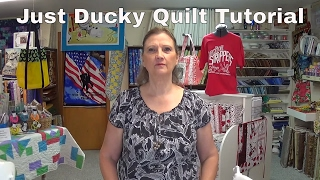 Just Ducky quilt using 10 inch squares