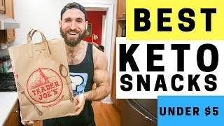 BEST Keto Snacks at Trader Joe's UNDER $5 | 16 Easy, On The Go, Low Carb Keto Snack Ideas
