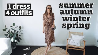 HOW TO WEAR A FLORAL DRESS FOR EVERY SEASON | 4 Outfit Ideas Lookbook