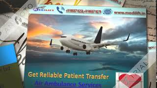 Medical Emergency Air Ambulance Services in Kolkata at Low Fare