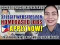 APPLY NOW! WORK FROM HOME | HOMEBASED JOB WEBSITES | Philippines