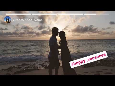 結婚式等で使えるインスタ風おしゃれ動画を作成します 最短3日でおしゃれ動画をお届けします! イメージ1