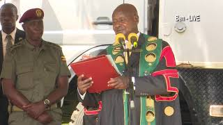 Museveni's tough speech at Makerere University Graduation 2019, warning striking lectures